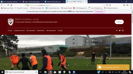 Du site aux réseaux sociaux pour le Brest FC